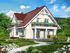 Dom pod kasztanem 2 (P) Three Bedroom House Plan, Casa Patio, Prefabricated Houses, Wood Pallet Furniture, Cottage Plan, Design Case, Log Homes, Home Fashion, Cabana