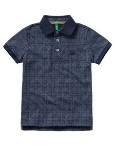Shop Patterned polo Dark Blue for TOPS at the official United Colors of Benetton online shop.
