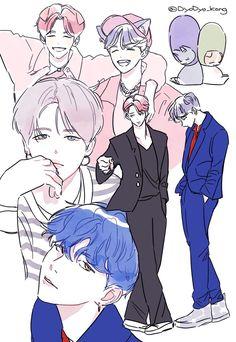 Jimin, Otp, Yoonmin Fanart, Kpop Drawings, Yoongi, Draw Your, Kpop Fanart, Bts Photo, Real People