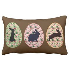 Spring Floral Egg & Easter Bunny silhouettes