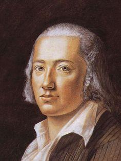 Friedrich Hölderlin, Pastell von Franz Karl Hiemer, 1792