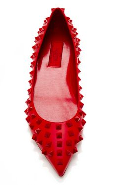 Valentino rock stud...everyone needs a red flat
