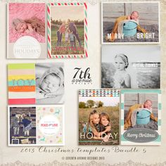 INSTANT DOWNLOAD  2013 Christmas Card by 7thavenuedesigns on Etsy, $45.00