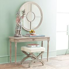 Antiqued Gustavian Console | Console Tables $399