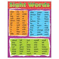 Trend Enterprises Sight Words Learning Chart Piece), x Preschool Sight Words, Learning Sight Words, Sight Words List, First Grade Sight Words, Sight Word Games, Sight Word Activities, Kids Learning Activities, Preschool Lessons, Fry Sight Words