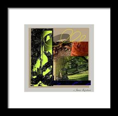 Collage Framed Print featuring the mixed media Summer Lawns 1 by Janis Kirstein