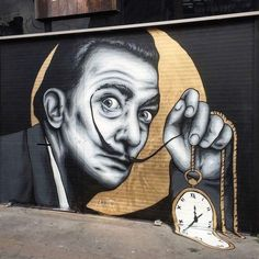 Dali mural by Zabou