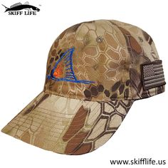 JUST IN!!! Skiff Life Kryptek Highlander Camo Hat Redfish Tail Blue & Orange…