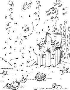 Dot to dot sea life Pracovní Listy