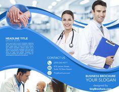 Medical Brochure, Slide Design, Promote Your Business, Tri Fold, Customer Experience, Brochures, Brochure Template, Champion, Lettering