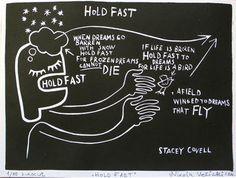 "Saatchi Art Artist Stacey Covell/Nikola Velicki; Printmaking, ""Hold Fast"" #art"
