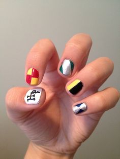 Harry Potter nails.