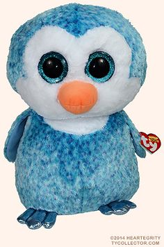 BRAND NEW Line from the Ty Company ~MWMT 2017 Baby Ty TWINKLES the Blue Penguin