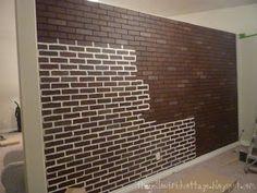 Life With Jennifer Nicole : {Faux} Brick Wall