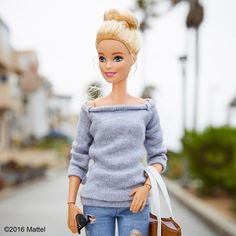 When your weekend style is all about a top knot. #barbie #barbiestyle