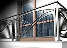 61 Ideas For Stairs Steel Railing Decor Steel Railing, Iron Stair Railing, Staircase Railings, Staircase Design, Balcony Grill Design, Balcony Railing Design, Window Grill Design, Balustrade Inox, Gates And Railings