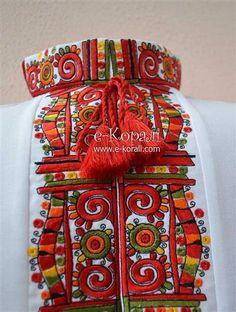 Folk Costume, Costumes, Beautiful Blouses, Ethnic Fashion, Embroidery Designs, Cross Stitch, My Arts, Textiles, Knitting