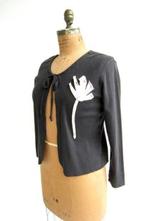 Upcycled T Shirt Cardigan / Layer / Drawstring / Black / by ohzie