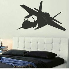 Fighter Jet Army Decals Wall Sticker / Wall Decals / Fighter Jet Wall Art Murals ra213. £19.99, via Etsy.
