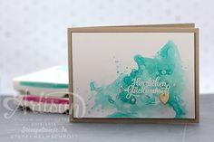 Video - How I make a card - Geburtstagskarte Stempelwiese • Heute wieder ein kreatives Video für euch zu einer farbenfrohen Geburtstagskarte. Auch hier sind die Farben wieder individuell austauschbar je nach dem ob