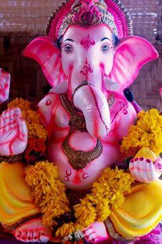 Ganesha, watches over our studio in Goa, India www.ashtakyoga.com