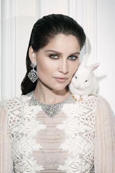 #diamonds #pets | Vogue Paris |Laetitia Casta by Walter Pfeiffer