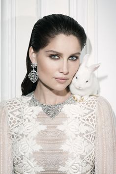 #diamonds #pets | Vogue Paris |Laetitia Casta by Walter Pfeiffer