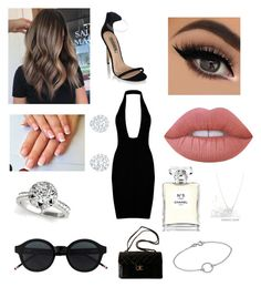 """:)"" by tori-l-i on Polyvore featuring Lime Crime, Chanel and Dogeared"