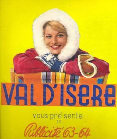Vintage Travel Poster - Val d'Isere -  France - 1963/1964.