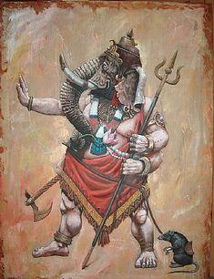 Original Religion Painting by Sascha Lunyakov Shri Ganesh, Ganesha Art, Durga, Ganesh Tattoo, Baby Ganesha, Ganesh Lord, Shiva Art, Krishna Art, Hindu Art
