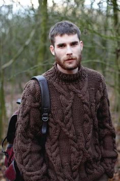From Knitting with Rowan. Paid booklet with 16 sweater patterns