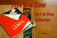 Five in a Row Art in Five Minutes (Lentil) - shadowing and facial expressions