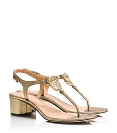 I want these shoes!!! Tory Burch Violet Metallic Sandal