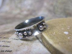 Anticlastic bubble ring in sterling silver by Bay Design.