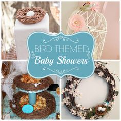 Loving these Bird themed baby showers that are just so adorable and delicate! See more party ideas at  CatchMyParty.com