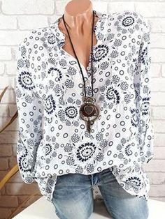 Women's Clothing Aspiring 2017 Women Vintage V Collar Cross Colorful Painting Print Jumpsuit Shirt Blouse Fashion Streetwear Casual Tops Blusas