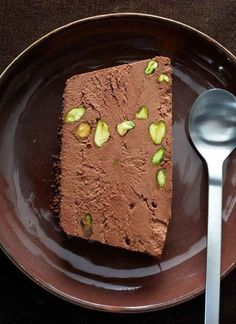 Chocolate Pistachio Semifreddo Recipe | HungryForever