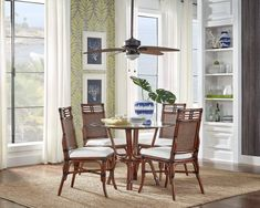 PALM-COVE-DS-1102-5659-ATQ-6PD Fresh House, Side Chairs, Home, Dining, Side Chairs Dining, 5 Piece Dining Set, Island Style Design, Room, Dining Room Set