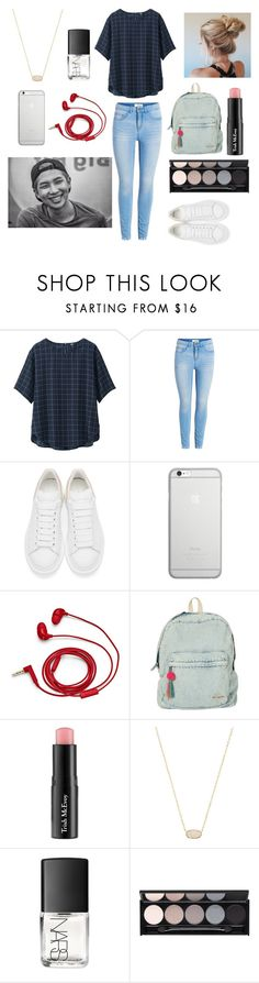 """""""School with Rapmonster"""" by bts-outfit-imagines ❤ liked on Polyvore featuring Uniqlo, Alexander McQueen, Native Union, FOSSIL, Billabong, Trish McEvoy, Kendra Scott, NARS Cosmetics and Witchery"""