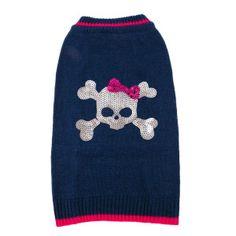 Top Paw™ Sequin Skull Sweater | Sweaters & Coats | PetSmart