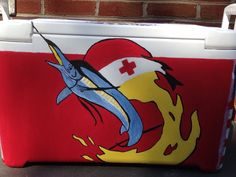 KA Painted Frat Cooler