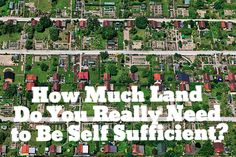 How Much Land Do You Really Need to Be Self-Sufficient? --Much less than you think!  SmallFootprintFamily.com