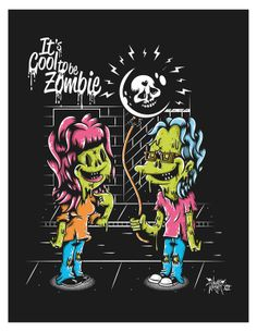 Cool To Be Zombie by Johnny Terror, via Behance
