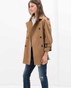 Image 2 of SHORT TRENCH COAT from Zara
