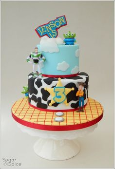 - Cake by Sugargourmande Lou Toy Story Birthday Cake, 3rd Birthday Cakes, 4th Birthday, Birthday Ideas, Festa Toy Story, Toy Story Party, Party Treats, Party Cakes, Bolos Toy Story