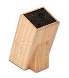 Grunwerg Wooden Universal Knife Block