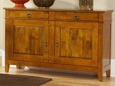 Union Square Server by CORT. Beautiful, warm natural wood finish.
