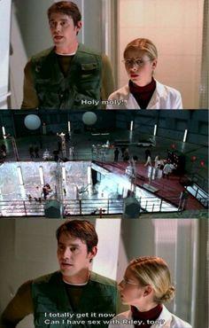 Buffy the Vampire Slayer (season 4) - haha Xander!