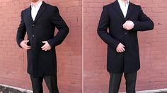 Steal the Style: Skyfall - The Coat – Single breasted topcoat in navy or black: Uniqlo Chesterfield Coat – $129.90