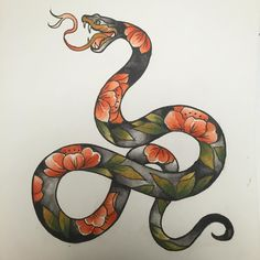 Tattoo Samurai, Voodoo Tattoo, Snake Art, Tattoo Illustration, Diy Tattoo, Flash Art, American Traditional, Great Tattoos, Tattoo Sketches